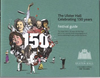 Poster: 150yrs Ulster Hall