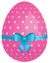 Pink_Dotted_Easter_Egg_with_Blue_Bow_PNG_Clipart